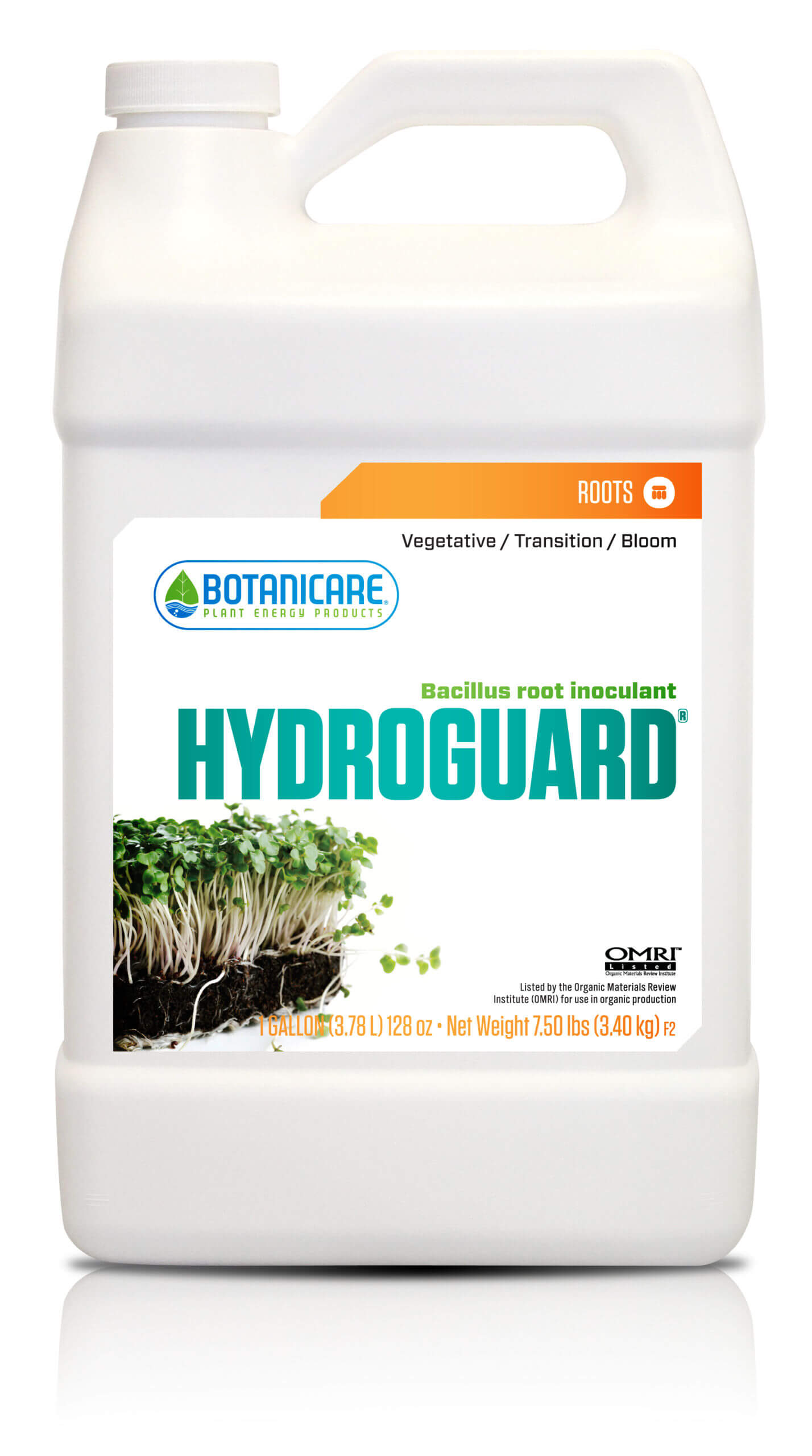 Hydroguard® contains unique beneficial bacteria, Bacillus Amyloliquefaciens, selected specifically for its superior ability to enhance the symbiotic relationship between the roots and their surrounding medium.